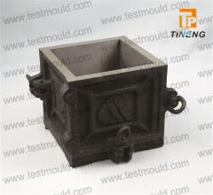 Four parts cast iron steel made cube mould