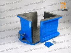 Two parts cast iron made cube mould
