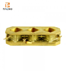 Brass three gang cube moulds
